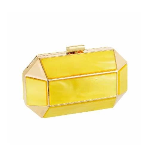Bolsa Clutch em Acrílico Amarelo