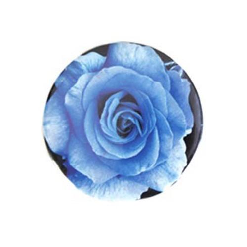 Espelho de Bolsa Estampa Flor Azul